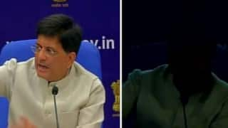 Irony! Power goes off thrice at press conference while Piyush Goyal promises 24x7 electricity (Watch video)