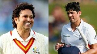 Sachin Tendulkar still youngest batsman to score 10,000 Test runs. Alastair Cook falls short, again