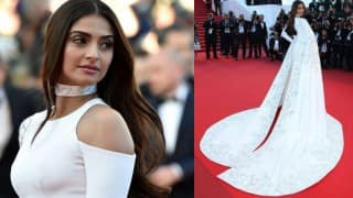 Sonam Kapoor at Cannes 2016: B-town diva slays the red carpet in white and gold Ralph & Russo gown!
