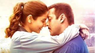 'Sultan' Salman Khan & 'Aarfa' Anushka Sharma share a romantic moment in this poster