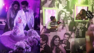 Aww! Watch how Bipasha Basu goes crazy when hubby Karan Singh Grover sings for her at the wedding reception