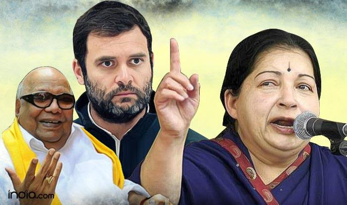Tamil Nadu Assembly Elections 2016 Exit Polls: DMK-Congress to win 114-118 seats, Jayalalithaa's AIADMK slips down, says News Nation survey