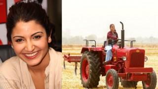 Spotted! Sultan ki jaan Aarfa aka Anushka Sharma driving tractor