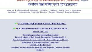 Upresults.nic.in UP class 12 HSC Board Exam Results 2016 declared: Check Madhyamik Shiksha Parishad XII results on Upmsp.nic.in
