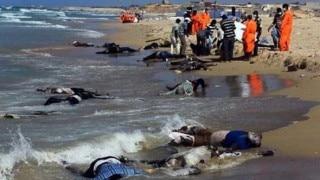 लीबिया के तट पर 117 शरणार्थियों के शव बहकर आए