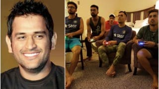 MS Dhoni plays Fifa Spain vs Argentina match with the young guns!