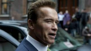 Arnold Schwarzenegger gets charged by elephant