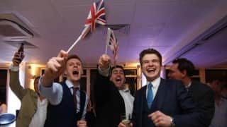 Britain has voted to leave EU in historic referendum, says BBC's tally; Celebrations erupt in London