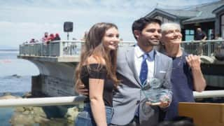Meadow Walker presents Paul Walker Ocean Leadership Award to Adrian Grenier