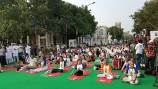 International Yoga Day: Delhiites turn out in large numbers for yoga day