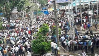 Mumbai Locals: Protests break out at Diva station after Central Railways suspends train services due to rains