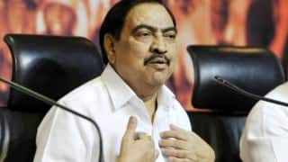 FIR lodged against Eknath Khadse, wife and 2 others in the Pune MIDC land deal