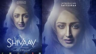 Ajay Devgn introduces Shivaay's leading lady Sayyeshaa with new poster!