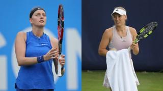 WTA tournament: Petra Kvitova, Caroline Wozniacki slip and slide out of Birmingham
