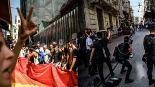 Istanbul riot police break up LGBT rally