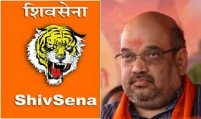 Shiv Sena mocks Amit Shah on posters, BJP warns of fitting reply