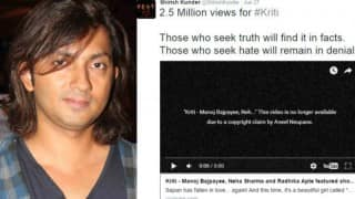 Shirish Kunder's short film Kriti pulled down from YouTube post Nepali director Aneel Neupane's copyright claim