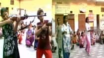 Aligarh: Aryaveer Dal activists train girls with weapons to fight against 'Love Jihad' (Video)