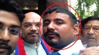Kanhaiya Kumar's 'attacker' greets Amit Shah in Pune; shares selfie with him on Facebook!