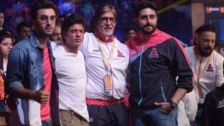 Pro Kabaddi League 2016 Season 4: Shah Rukh Khan, Ranbir Kapoor, Amitabh Bachchan & Abhishek Bachchan captured in one frame!
