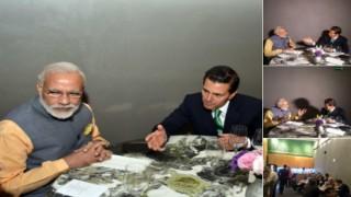 Enrique Pena Nieto drives Narendra Modi to restaurant for dinner