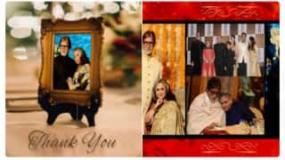 Amitabh Bachchan shares pics with wife Jaya Bachchan on 43rd wedding anniversary
