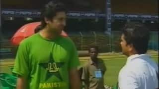 Wasim Akram birthday special: Watch rare video of Sultan of swing presenting a gift to Sachin Tendulkar
