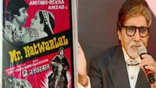Amitabh Bachchan celebrates 37 yrs of 'Mr. Natwarlal'