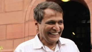 Suresh Prabhu flags off Patna-Ara train service