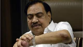 Eknath Khadse criticises BJP government for not implementing promises