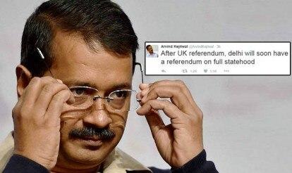 Delexit? Arvind Kejriwal tweets plan to hold