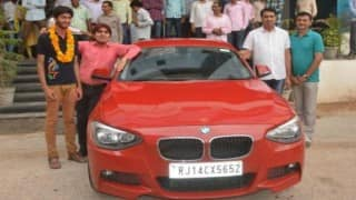 WOW! Rajasthan student gifted BMW car by coaching institute for achieving 11th rank in IIT-JEE Advanced exam