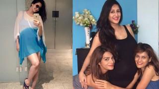 Chahat Khanna of Bade Acche Lagte Hain flaunts her baby bump in blue swimwear!
