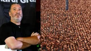 Thousands of Colombians stripped nude to pose for body art photographer Spencer Tunick