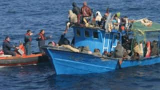 16 fishermen rescued from sinking boat