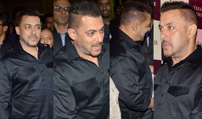 Baba Siddiques Iftar Party Salman Khan Surprises With New Haircut