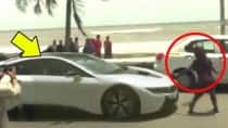 Spotted: Shah Rukh Khan attacked while driving new BMW i8 in Bandra (Watch video)