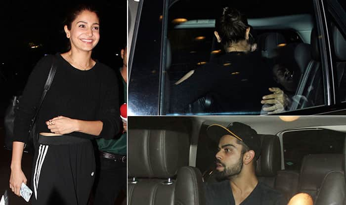 Anushka kiss sharma and virat kohli
