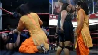 This Punjabi woman knocked down a pro wrestler LIKE A BOSS! Watch viral video