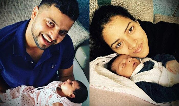 Cuteness Alert! Suresh Raina holding super cute daughter ...