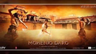 Mohenjo Daro poster: Check out the magnificent action poster featuring Sarman aka Hrithik Roshan