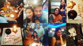 Yummy Mummy Dimpy Ganguly celebrated her birthday with husband Rohit Roy & family!