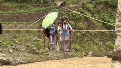 Uttarakhand rains: Students use rope trolley to cross flooded Alaknanda river