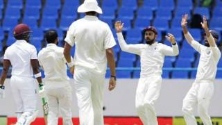 India on brink of victory as West Indies slump to 126/7