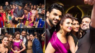 See how newly-weds Divyanka Tripathi & Vivek Dahiya partied with Yeh Hai Mohabbatein star cast and others at their Mumbai reception