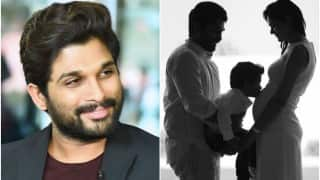 Allu Arjun ready to embrace fatherhood again; shares adorable family photo!