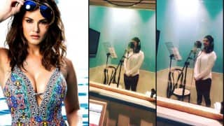 Sunny Leone rehearses for live singing performance!