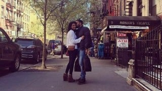SPOTTED: Anurag Kashyap kissing girlfriend Shubhra Shetty in New York! (See picture)