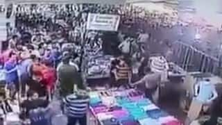 Iraqi man shouts Allah hu Akbar, causes panic in crowded market (Watch video)
