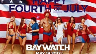 OMG! Priyanka Chopra shares Baywatch poster for Fourth of July, and she looks awesome with Dwayne Johnson!